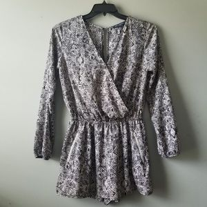 One Clothing Faux Wrap Romper Festival Size Med